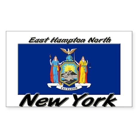 East Hampton North New York Rectangle Sticker