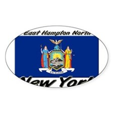 East Hampton North New York Oval Decal