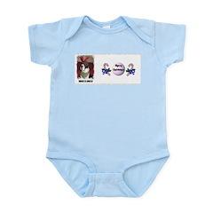 WHERES SANTA? GREAT DANE Infant Creeper