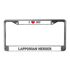 I Love My Large Munsterlander License Plate Frame