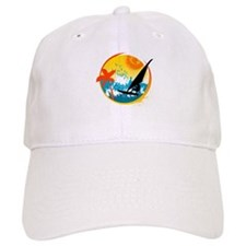 Cute Sailboarding Baseball Cap