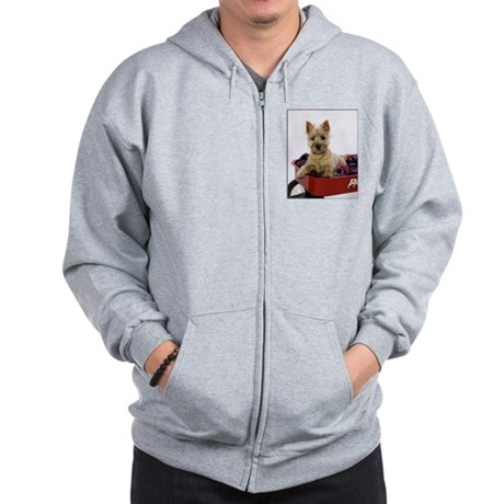 Baby Cairn Terrier Zip Hoodie