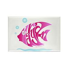 Maryam ( Pink Fish) Rectangle Magnet
