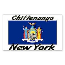Chittenango New York Rectangle Decal
