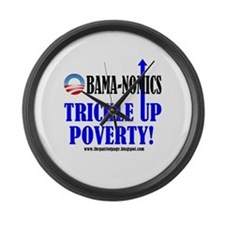 Obama-nomics Large Wall Clock