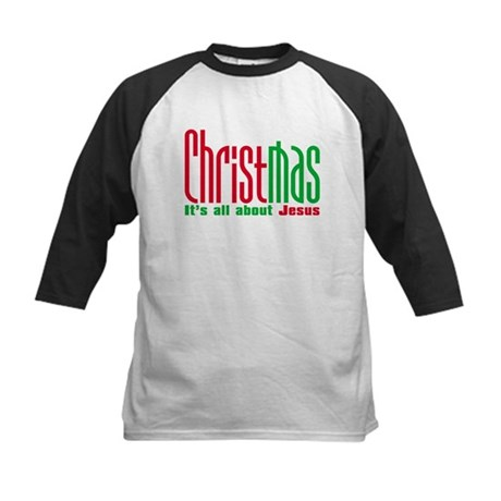 Christmas is all about Jesus Kids Baseball Jersey
