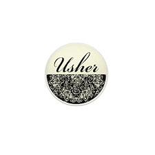Usher Mini Button