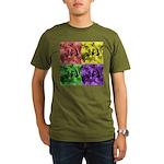 Pop Art Organic Men's T-Shirt (dark)
