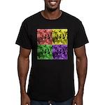 Pop Art Men's Fitted T-Shirt (dark)
