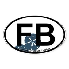 Folly Beach SC Oval Decal