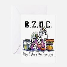 Big Zebra on Campus Greeting Card