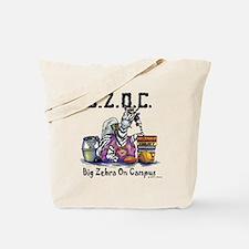 Big Zebra on Campus Tote Bag