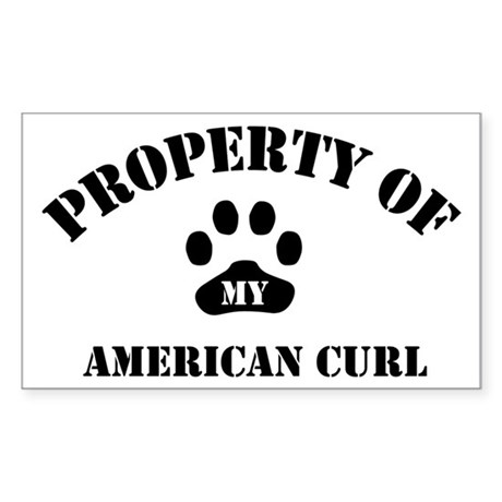 My American Curl Rectangle Sticker
