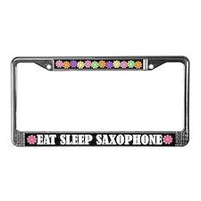 Eat Sleep Saxophone License Plate Frame