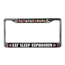 Eat Sleep Euphonium License Plate Frame