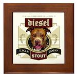 Diesel Pit Bull Stout Framed Tile