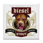Diesel Pit Bull Stout Tile Coaster