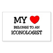 My Heart Belongs To An ICONOLOGIST Decal