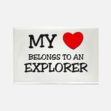 My Heart Belongs To An EXPLORER Rectangle Magnet