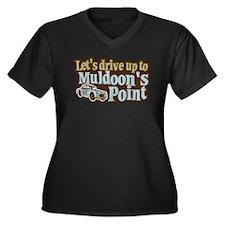 Muldoon's Point Women's Plus Size V-Neck Dark T-Sh