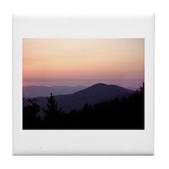 Mountain Sunset 2 Tile Coaster