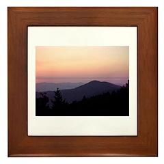 Mountain Sunset 2 Framed Tile