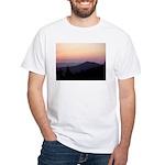Mountain Sunset 2 White T-Shirt
