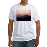 Mountain Sunset 2 Fitted T-Shirt
