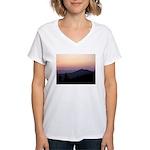 Mountain Sunset 2 Women's V-Neck T-Shirt