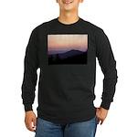 Mountain Sunset 2 Long Sleeve Dark T-Shirt