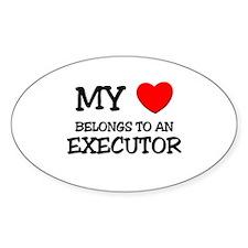 My Heart Belongs To An EXECUTOR Oval Decal