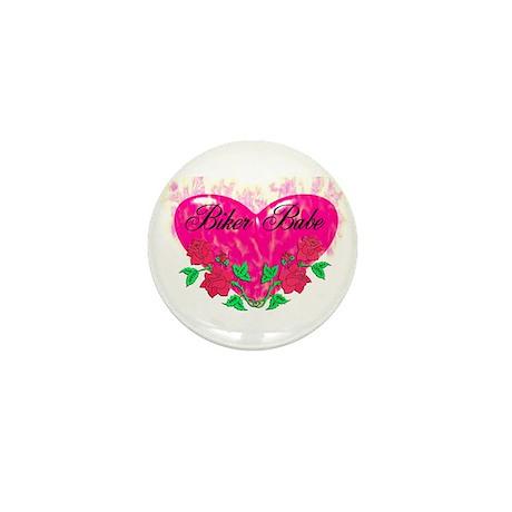 BIKER BABE HEART Mini Button