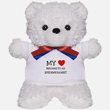My Heart Belongs To An EPIDEMIOLOGIST Teddy Bear