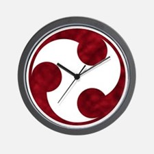 Samurai Crest Wall Clock - Tomoe