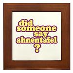 Someone Say Ahnentafel? Framed Tile