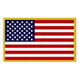 Gold american flag Single