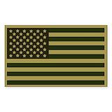 American flag bumper sticker Single