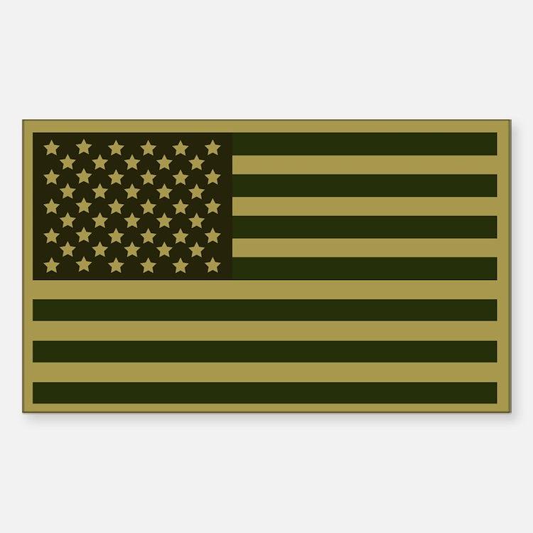 American Flag Sticker (Drab)