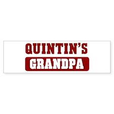 Quintins Grandpa Bumper Bumper Sticker