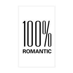 100% Romantic Rectangle Decal