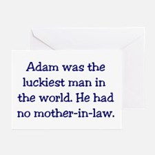 """Adam"" Funny Christian Joke Greeting Cards (Packag"