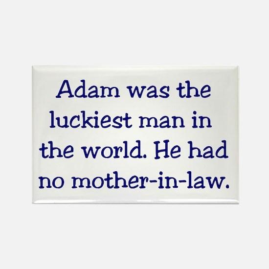 """""""Adam"""" Funny Christian Joke Rectangle Magnet"""