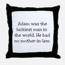 """Adam"" Funny Christian Joke Throw Pillow"