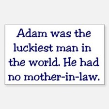 """Adam"" Funny Christian Joke Rectangle Decal"