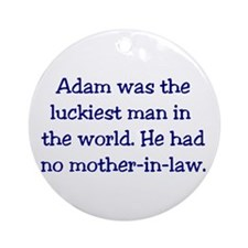 """Adam"" Funny Christian Joke Ornament (Round)"