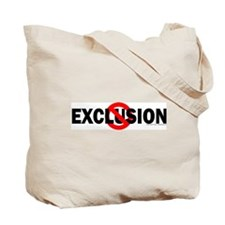 Exclusion Warning Tote Bag
