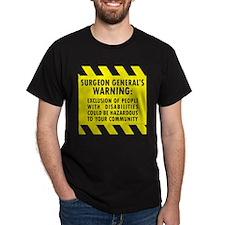 Exclusion Warning Black T-Shirt