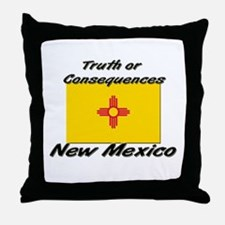 Truth Or Consequences New Mexico Throw Pillow