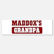 Maddoxs Grandpa Bumper Bumper Bumper Sticker