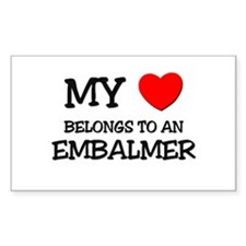 My Heart Belongs To An EMBALMER Decal